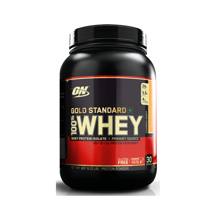 Optimum Nutrition (ON) Gold Standard 100% Whey Protein Powder Strawberry Banana