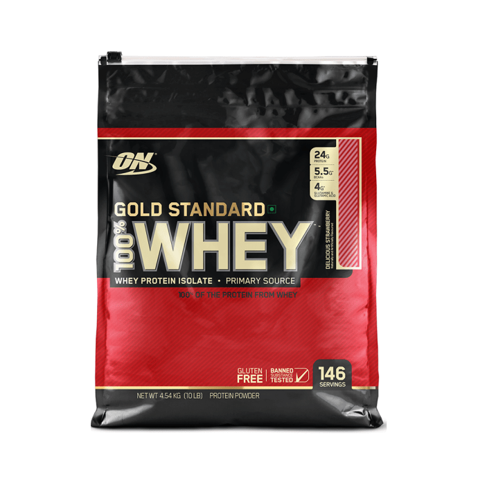 Optimum Nutrition (ON) Gold Standard 100% Whey Protein Powder Delicious Strawberry