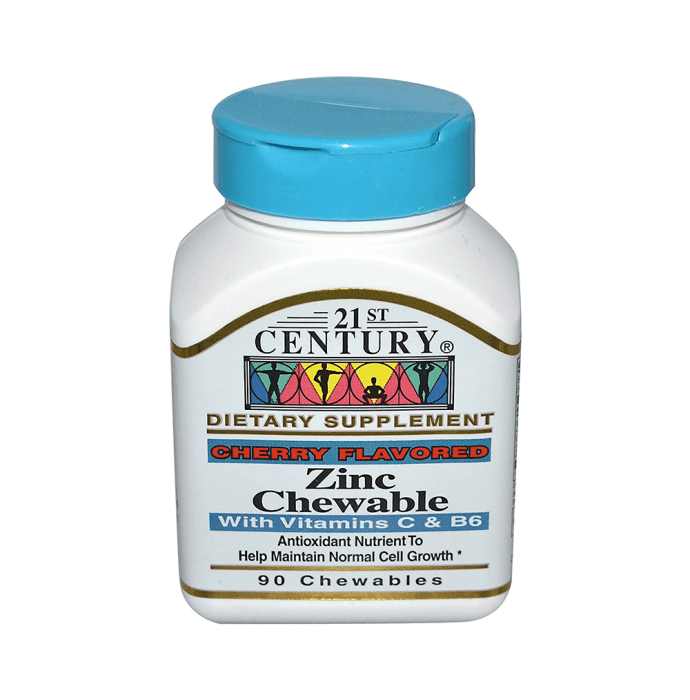 21st Century Zinc Chewable Tablet Cherry