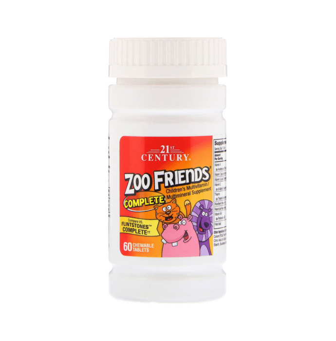 21st Century Zoo Friends Complete Children's Multivitamin/Multimineral Chewable Tablet
