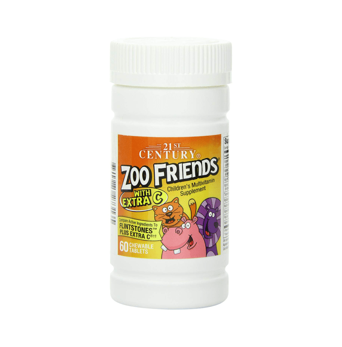 21st Century Zoo Friends with Extra C Children's Multivitamin Chewable Tablet