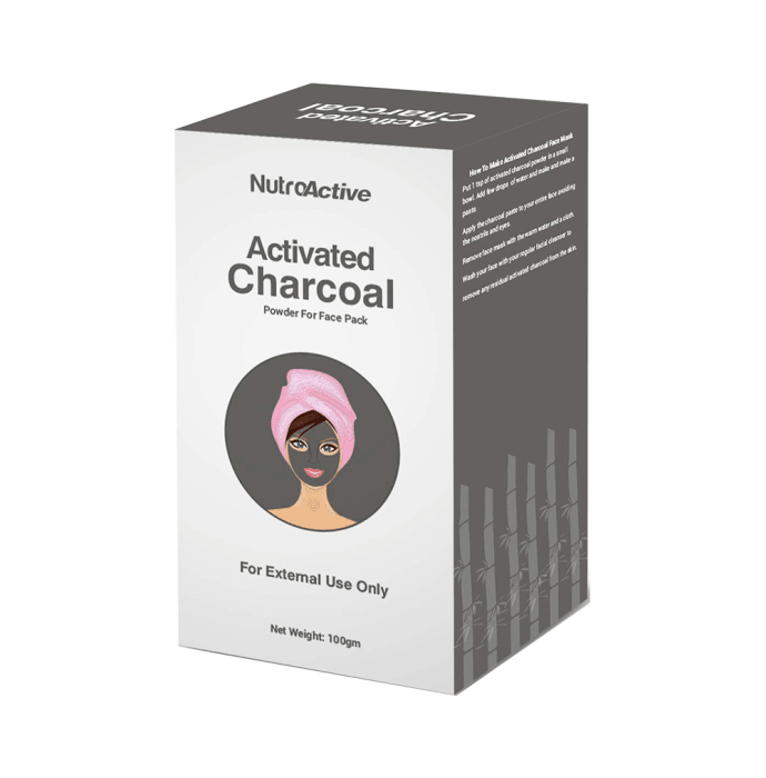 NutroActive Activated Charcoal Powder for Face Pack
