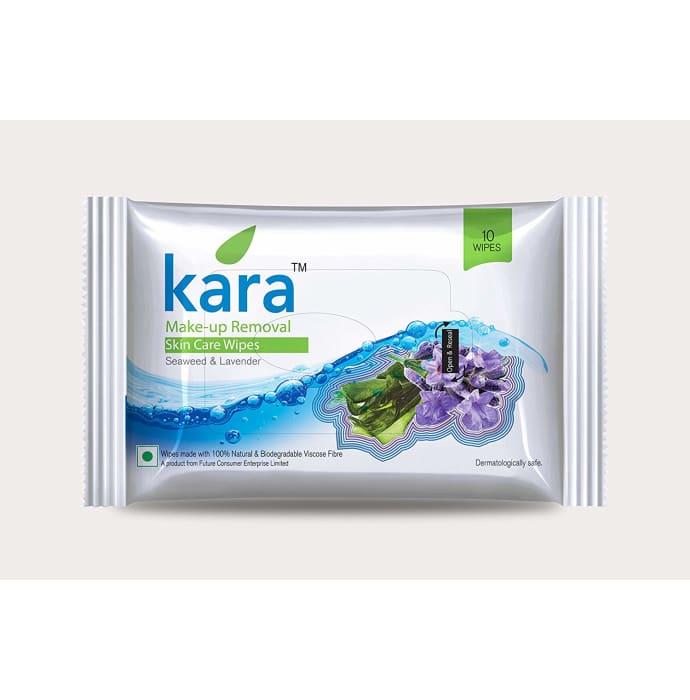 Kara Makeup Removal Seaweed and Lavender Face Wipes Pack of 2