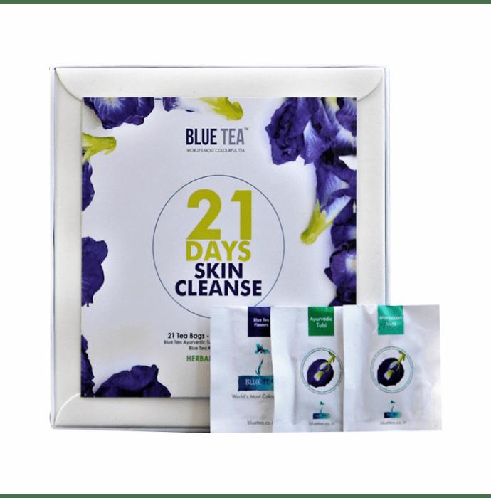 Blue Tea Herbal Tea Gift 21 Days Skin Cleanse Assorted Tea