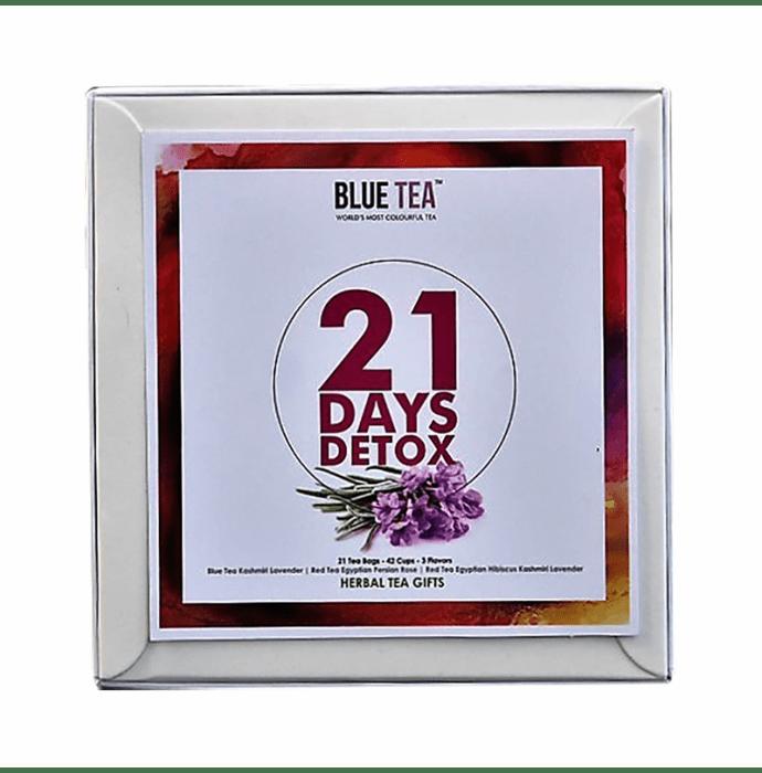 Blue Tea Herbal Tea Gift 21 Days Detox Assorted Tea