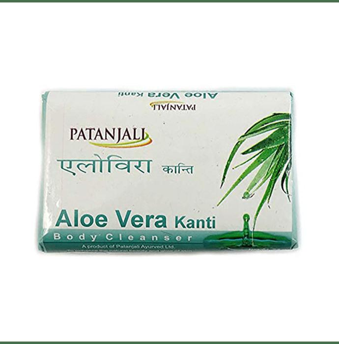 Patanjali Ayurveda Aloe Vera Kanti  Body Cleanser Soap