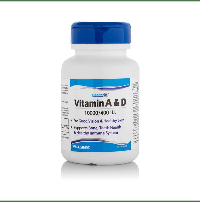HealthVit Vitamin A & D 10000/400IU Capsule
