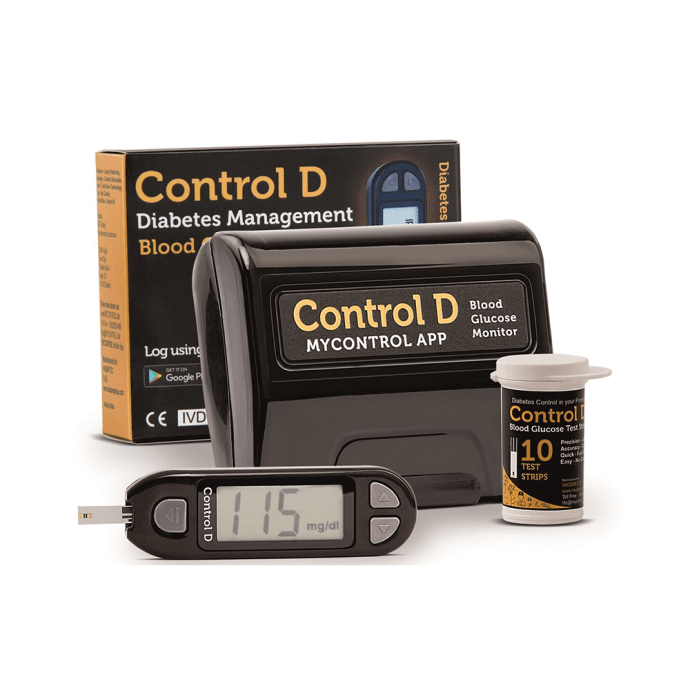 Control D Blood Glucose Monitor with 10 Strips & Lancets