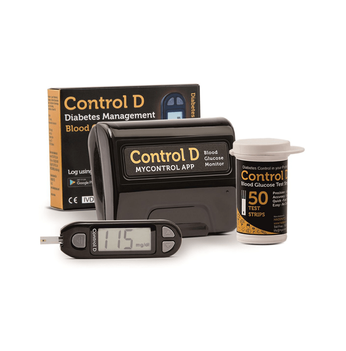Control D Blood Glucose Monitor Kit with 50 Strips