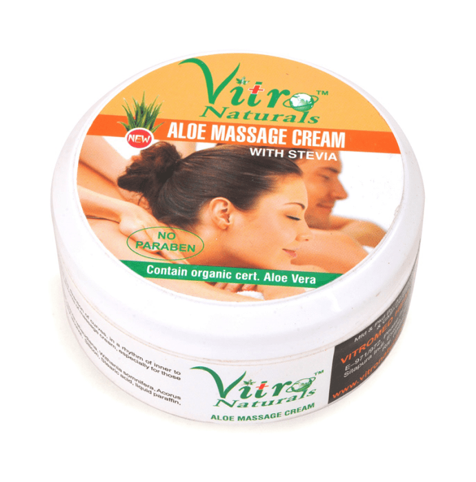 Vitro Naturals Aloe Massage Cream