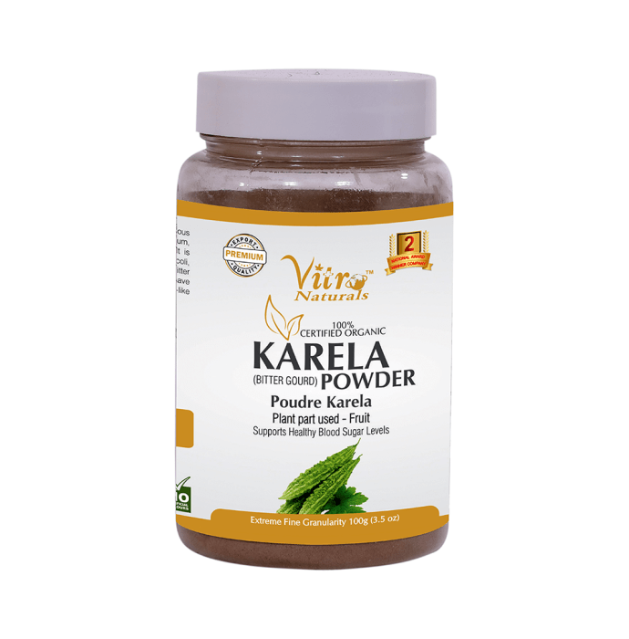Vitro Naturals 100% Certified Organic Karela Powder