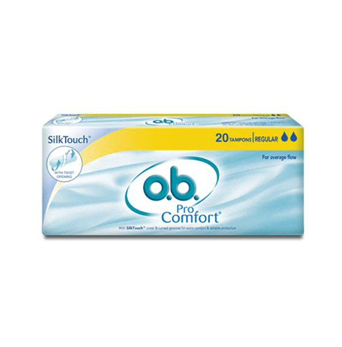 o.b. Silk Touch Pro Comfort Tampons Regular