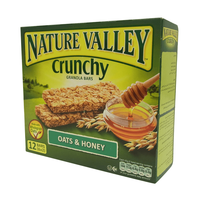 Nature Valley Crunchy Granola Bar (42gm Each) Oats and Honey