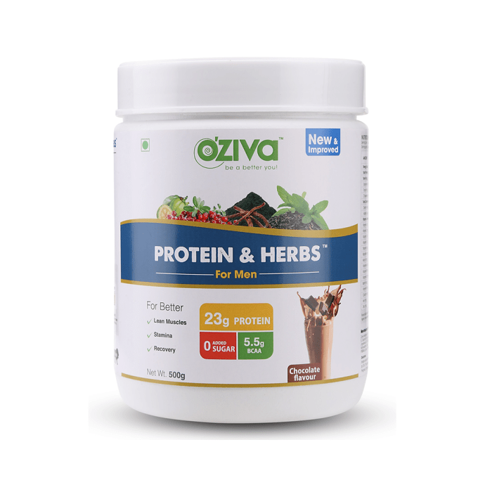 Oziva Protein & Herbs for Men Chocolate