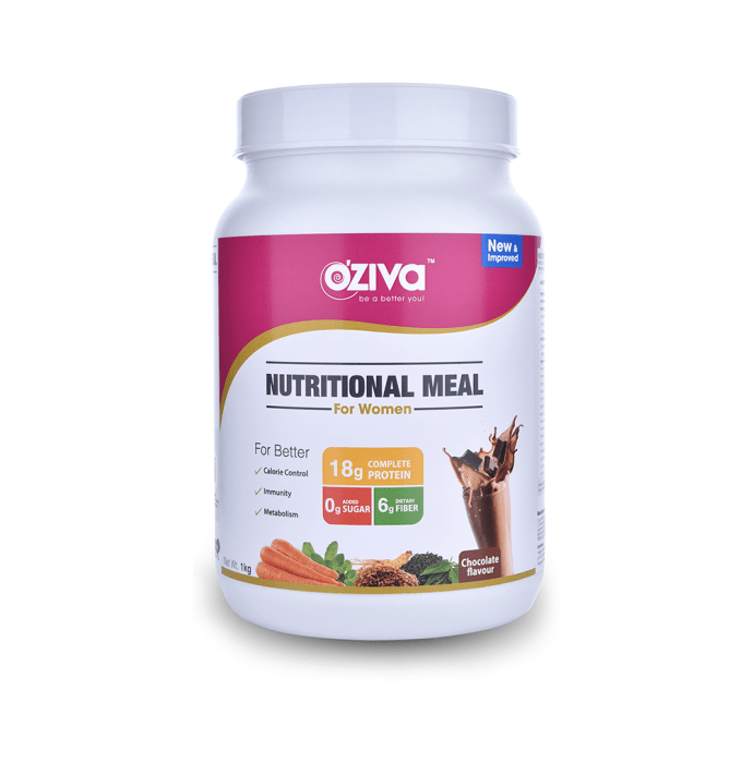 Oziva Nutritional Meal Shake for Women Chocolate