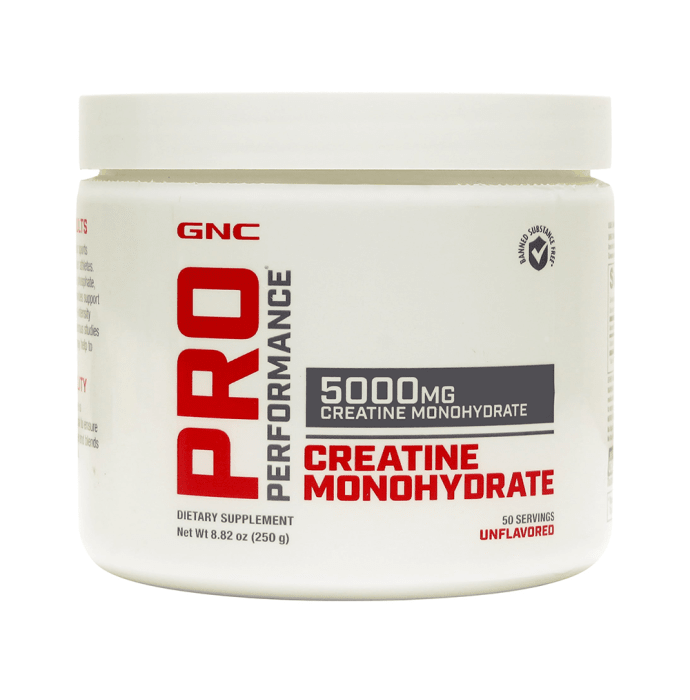 GNC Pro Performance Creatine Monohydrate 5000 Powder Unflavoured