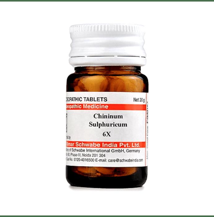 Dr Willmar Schwabe India Chininum Sulphuricum Trituration Tablet 6X