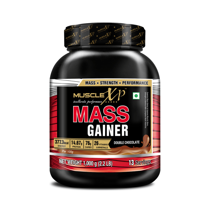 MuscleXP Mass Gainer Powder Double  Chocolate