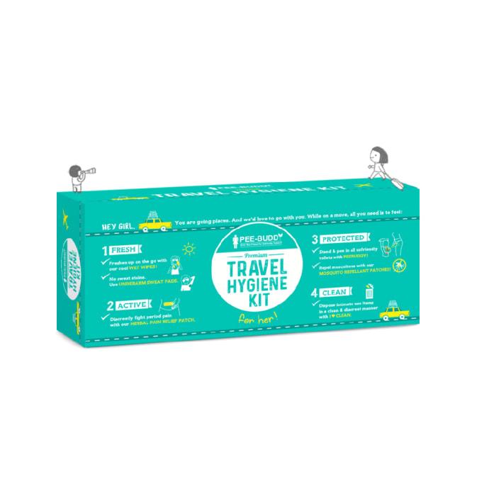 PeeBuddy Premium Travel Hygiene Kit for Her