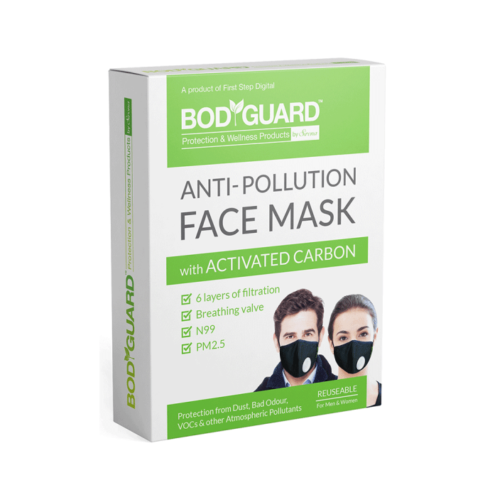 Bodyguard Anti Pollution Mask with Activated Carbon, N99 + PM2.5