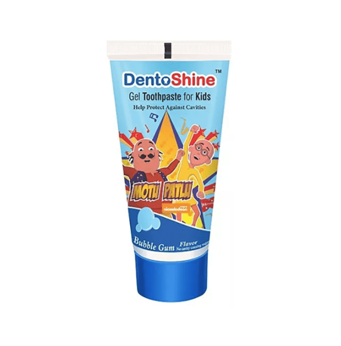 DentoShine Gel Toothpaste for Kids Bubblegum Motu Patlu