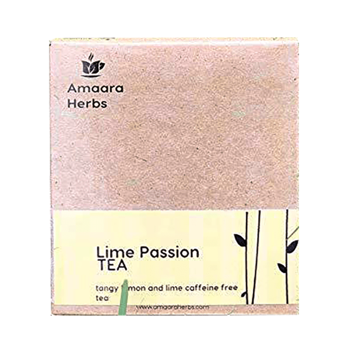 Amaara Herbs Caffeine Free Tea Bag Lime Passion