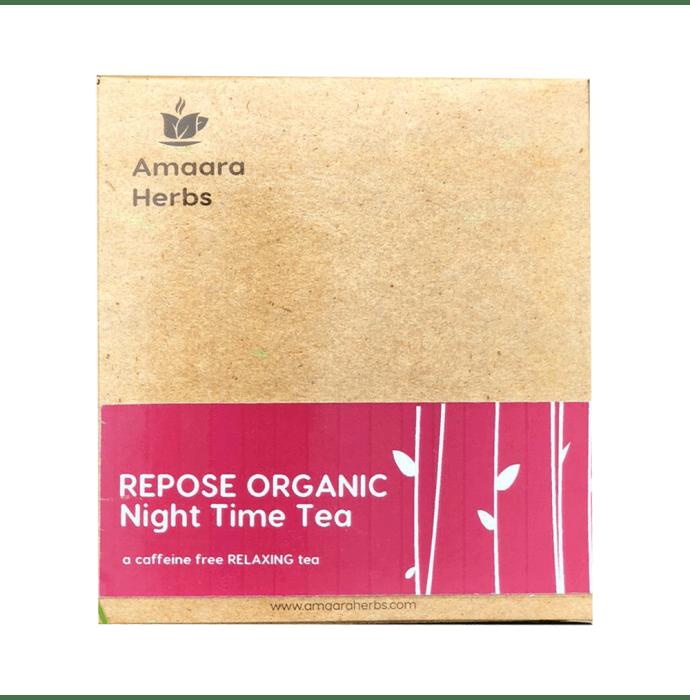 Amaara Herbs Caffeine Free Tea Bag Repose Organic Night Time