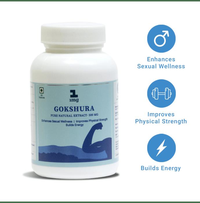 1mg Gokshura Pure Natural Extract 500mg Capsule
