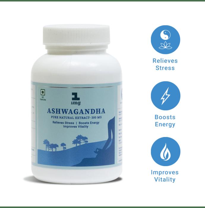 1mg Ashwagandha Pure Natural Extract 500mg Capsule