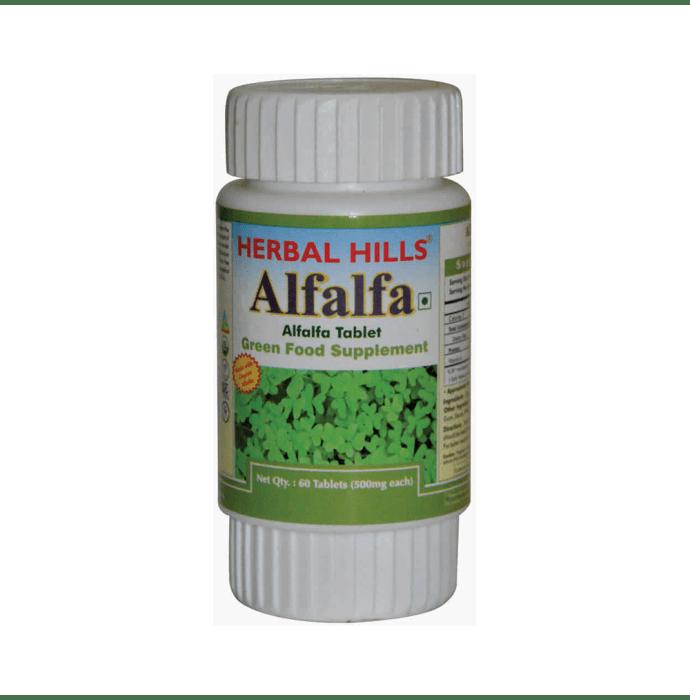 Herbal Hills Alfalfa 500mg Tablet
