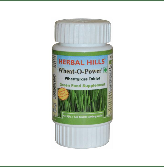Herbal Hills Wheat-O-Power Wheatgrass 500mg Tablet