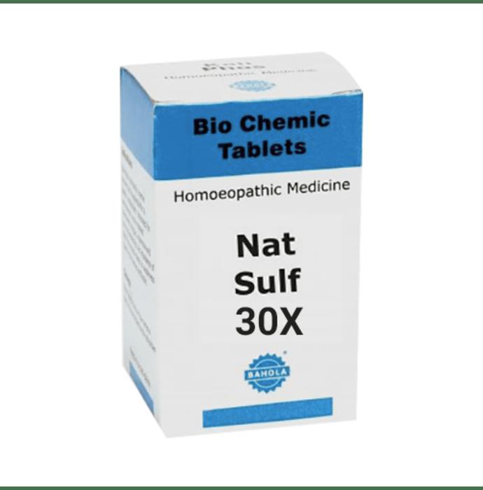Bahola Nat Sulf Biochemic Tablet 30X