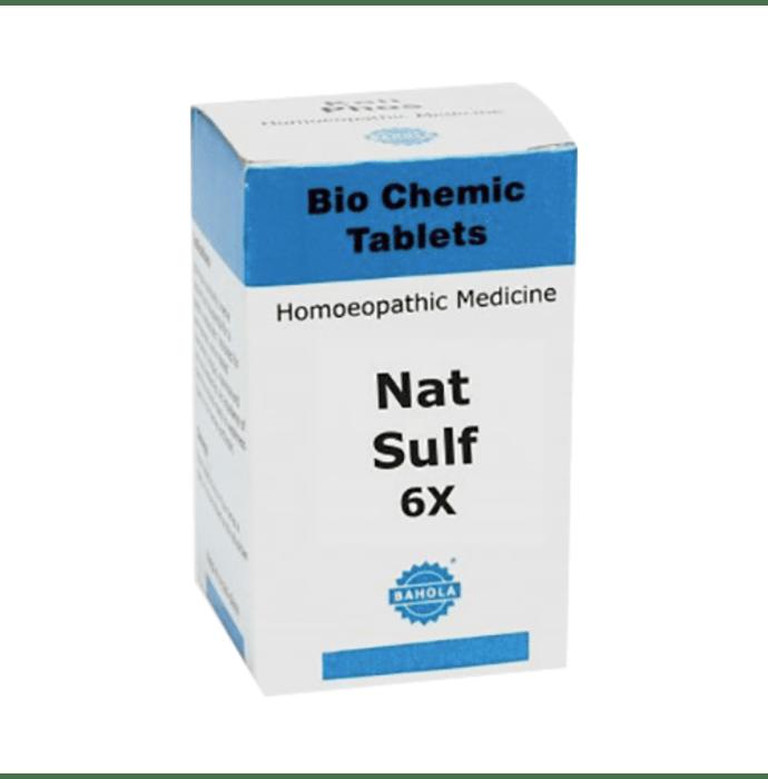 Bahola Nat Sulf Biochemic Tablet 6X