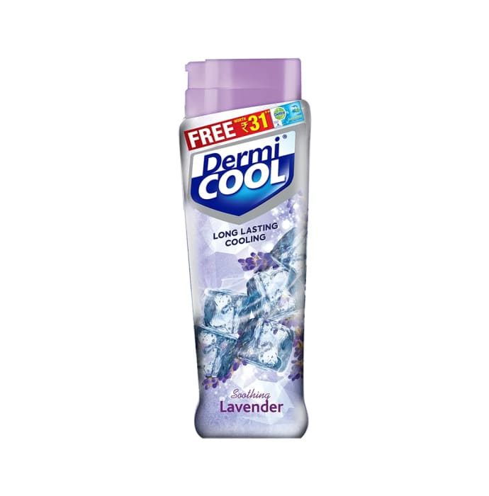Dermicool Prickly Heat Powder 150gm (with Free Dettol Cool Soap 75gm) Lavender