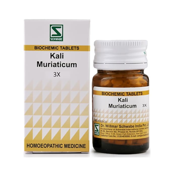 Dr Willmar Schwabe India Kali Muriaticum Biochemic Tablet 3X