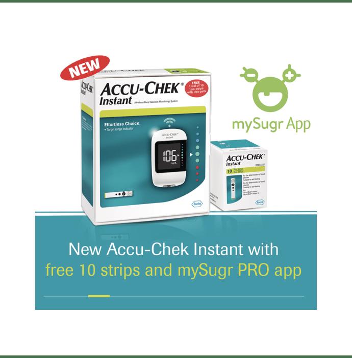 Accu-Chek Instant with 10 Strips Free and mySugr App