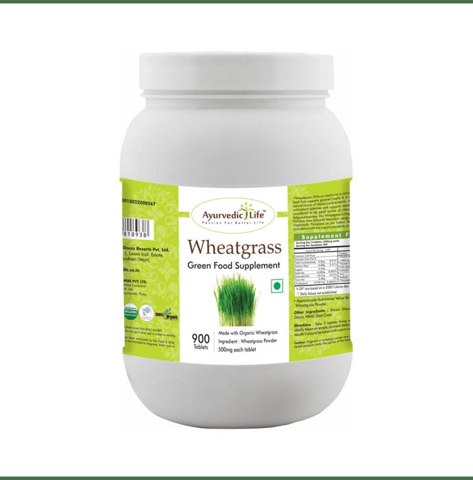 Ayurvedic Life Wheatgrass 500mg Tablet