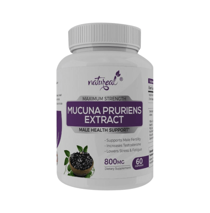 Natureal Mucuna Pruriens Extract 800 mg Capsule