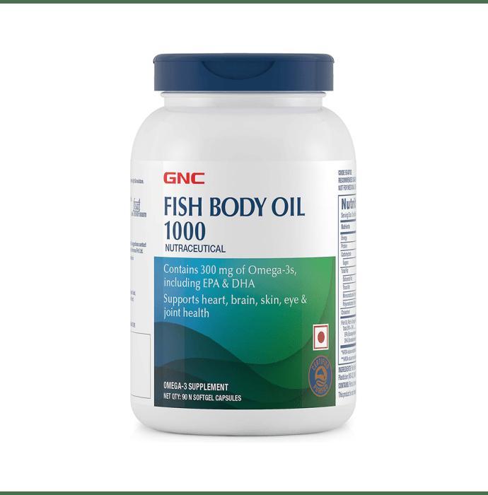 GNC Fish Body Oil 1000 Softgel Capsules