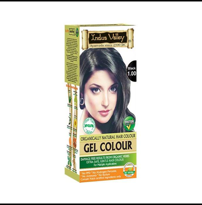 Indus Valley Organically Natural Hair Colour Gel Black