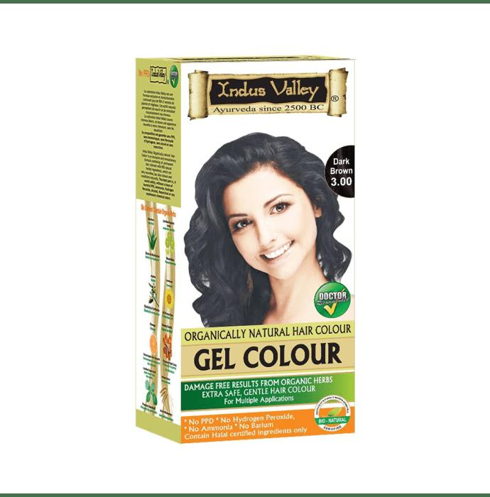 Indus Valley Organically Natural Hair Colour Gel Dark Brown