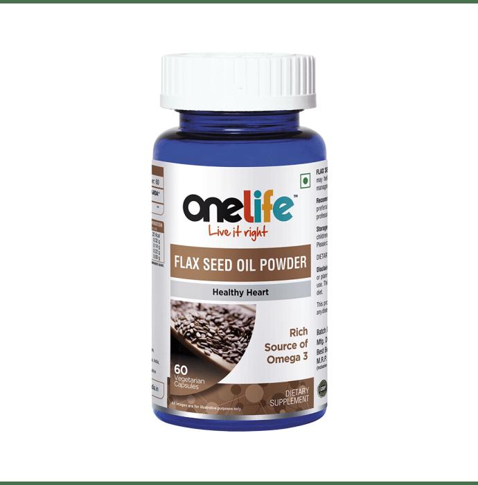 OneLife Flax Seed Oil Powder Vegetarian Capsule