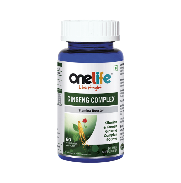 OneLife Ginseng Complex Vegetarian Capsule