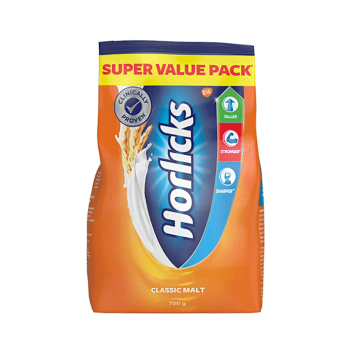 Horlicks Health and Nutrition Drink Refill Pack Classic Malt