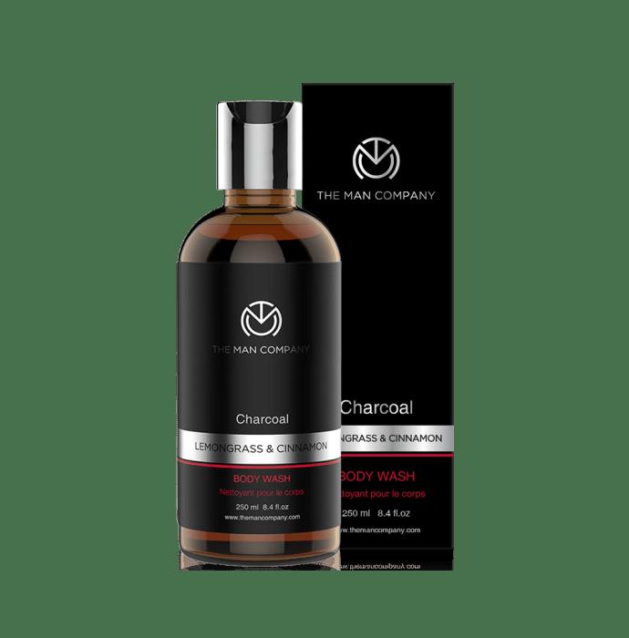 The Man Company Body Wash Charcoal Lemongrass & Cinnamon