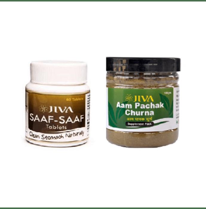 Jiva Saaf-Saaf Tablet-60 with Aam Pachak Churna-100gm