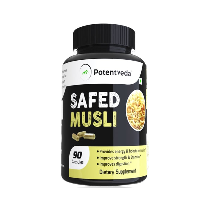 Potentveda Safed Musli 800mg Capsule