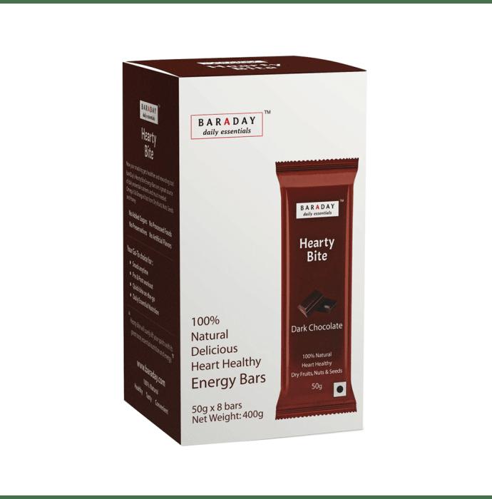 Baraday Daily Essentials Hearty Bite Energy Bars (50gm Each) Dark Chocolate