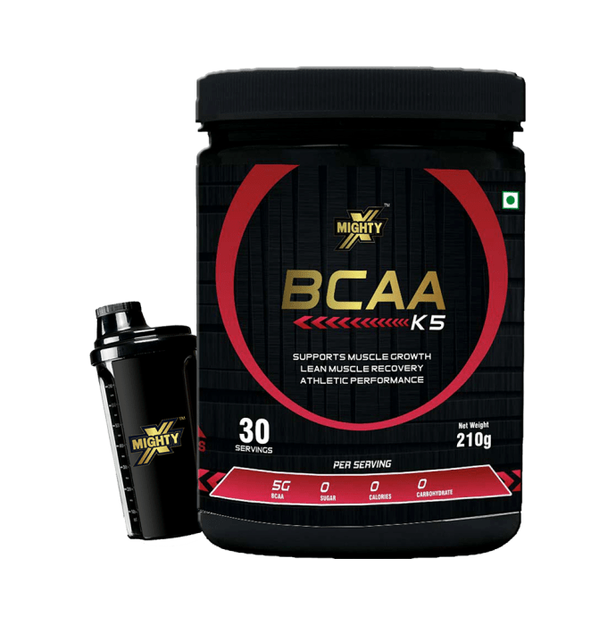 MightyX BCAA K5 Powder Watermelon with Shaker and T-Shirt Free
