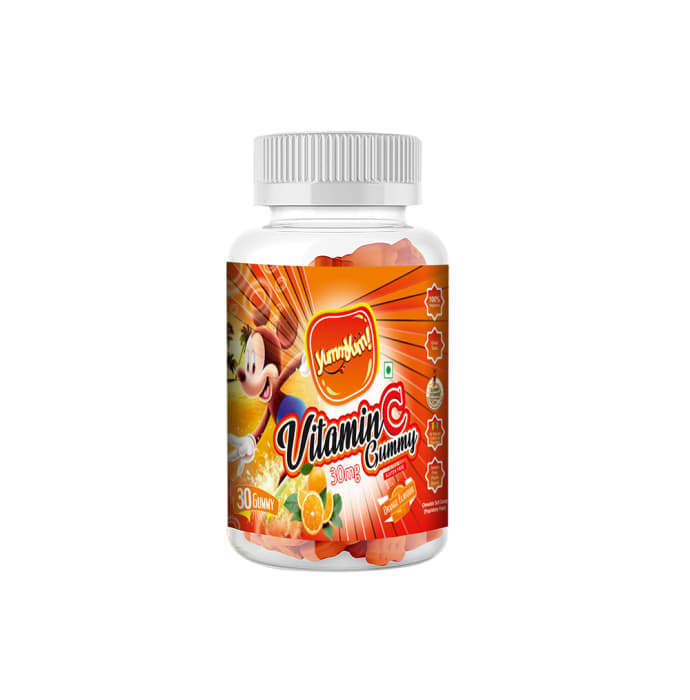Yummyum Vitamin C 30mg Gummy Orange Gluten Free